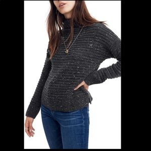 Madewell Donegal Belmont Mockneck Sweater S